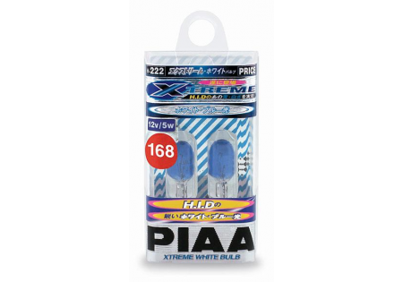 PIAA 168 Wedge Xtreme White Miniature Bulbs Twin Pack