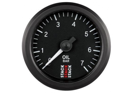 STACK 52mm Mechanical Oil Pressure Gauge - 0-7 bar