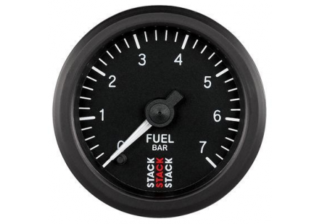 STACK 52mm Pro Stepper Analog Fuel Pressure Gauge - 0-7 bar