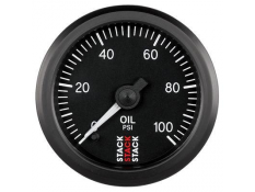 STACK 52mm Pro Stepper Analog Oil Pressure Gauge - 0-100 psi