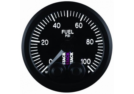 STACK 52mm Pro-Control Fuel Pressure Gauge - 0-100 psi
