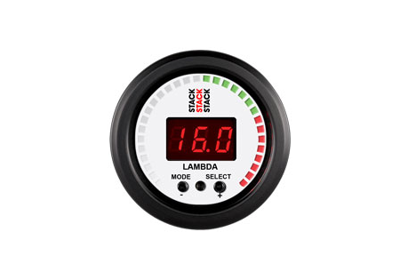 STACK 52mm Wideband Air/Fuel Digital Gauge - White
