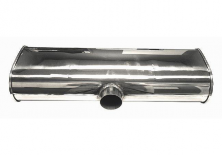 Vibrant StreetPower Muffler 3in Side Inlet 2x 2.5in Outlets